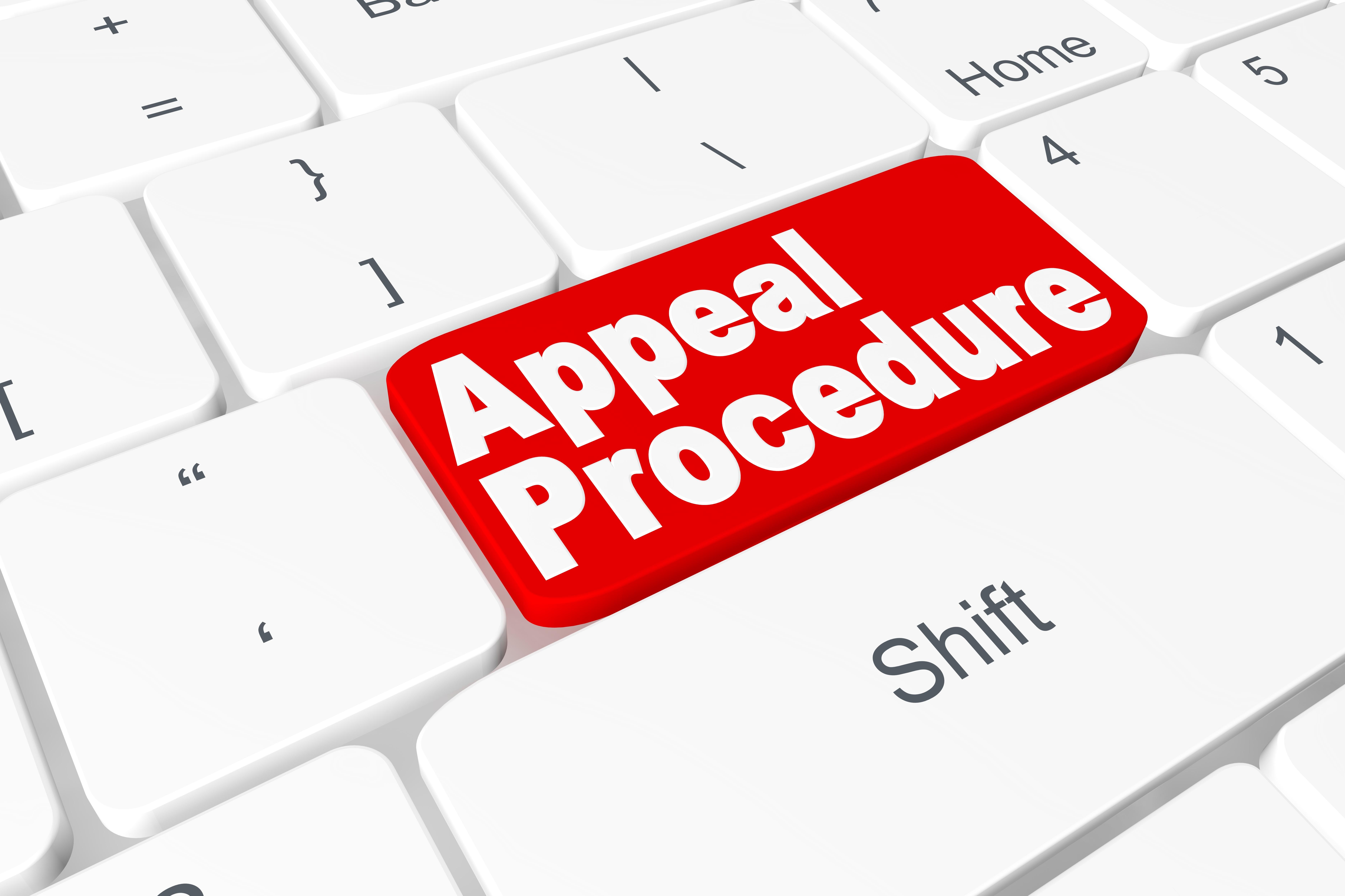 """Button """"Appeal procedure"""" on keyboard"""